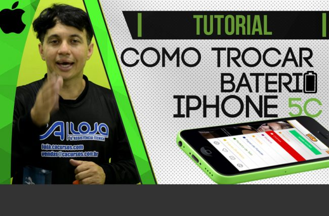 Como trocar a bateria do iPhone 5c